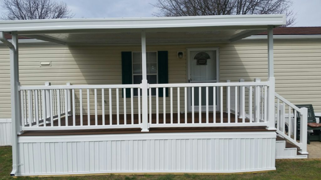 Awning,deck, skirting, PVC railing